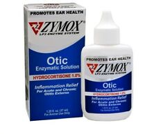 ZYMOX OTIC 1.25 fl.oz  1.0 % Hydrocortisone Dog Cat Ear Drops Solution Treatment