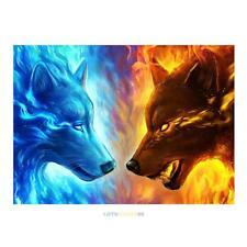 Wolf Two Animals 5D Diamond DIY Painting Kit Home Wall Decor Cross Crafts Stitch