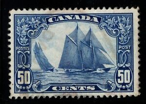 #158 Bluenose 50c Canada used well centered XF cv $100
