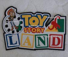 DISNEY Toy Story Land Die Cut Title Scrapbook Paper Piece - SSFFDeb