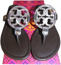 a7e06a7c0e302a Tory Burch Miller Thong Sandal Python Print Leather Shoe Flip Flop 5 - 35