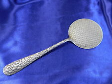 SCHOFIELD ROSE HAND CHASED STERLING SILVER WAFFLE SERVER - GOOD CONDITION MS