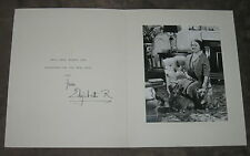 QUEEN ELIZABETH QUEEN MOTHER SIGNED LARGE CHRISTMAS CARD WITH PHOTO!