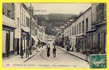 cpa 76 - Environs du HAVRE MONTIVILLIERS (Seine Maritime) Rue de Montivilliers