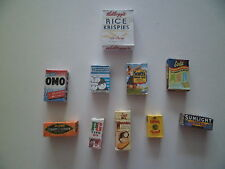 1/12 Scale - Assorted Grocery packets / boxes for dollshouse miniatures (004)