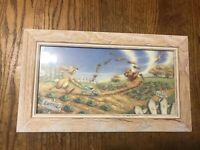Disney Winnie The Pooh 100 Acre Wood 14.5x8.5 Framed Print Garden Scene Picture