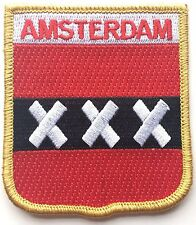 AMSTERDAM CREST FLAG WORLD EMBROIDERED PATCH BADGE