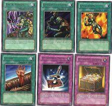 LOT 6 YUGIOH LOB LOD PSV PGD Magic Trap UNL: Lightforce Sword+Fissure++ MINT