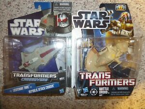 Star Wars Transformers Crossovers Lieutenant Thire & Battle Droid