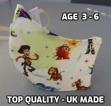 KIDS children 100% Cotton face mask washable quality double layer reusable 3-6