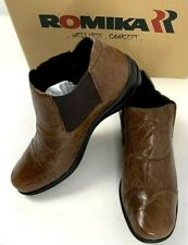 Romika Womens Loafer Ankle Flats Chelsea Brown Leather Cassie Brandy Ankle 37