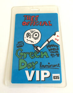 "Green Day ""Nimrod World Tour 97-98"" Laminated VIP Backstage Pass"