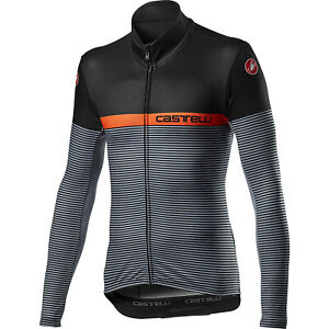 NEW Castelli Marinaio Jersey FZ, Light Black/Orange, Size Large
