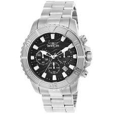 Invicta 23998 Men's Chrono Black Dial Steel Bracelet Quartz Watch