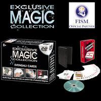 EXCLUSIVE MAGIC COLLECTON SET SVENGALI CARDS WITH DVD TRICKS ILLUSIONS CLOSE UP