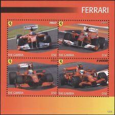 Gambia 2012 Ferrari/Sports Cars/Motors/F1/Motor Racing/Transport 4v m/s (s5044q)