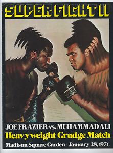 Muhammad Ali & Joe Frazier SUPER FIGHT Boxing Program Jan 28, 1974 FREE SHIPPING