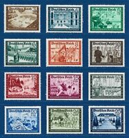 Nazi WWII German Reich Rare WW2 Stamps 1939 MNH Hitler Nazi Camaraderie Full Set
