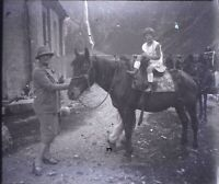FRANCE Montagne Ballade à Cheval, NEGATIF Photo Stereo Plaque Verre ca 1920