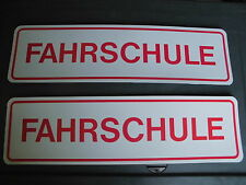 2 X SCHILD MAGNETISCH *FAHRSCHULE*  290 X 80 MM