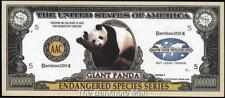 Million Note - Fantasy Money - Beautiful Note -Endangered Species Series - Panda