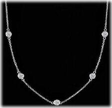 2.45 carat Round Diamond By The Yard Platinum Necklace 7 x 0.35 ct each F-G SI1