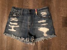 Hollister Distressed Medium Wash Blue Jean Shorts Women's 5 27