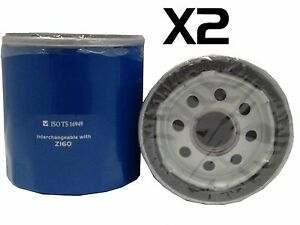 2X Oil Filter Suits Z160 HOLDEN MONARO V2 SERIES LS1 225KW 8CYL 5.7L 2001-2002