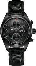 NEW HAMILTON KHAKI FIELD AUTOMATIC CHRONOGRAPH BLACK PVD CASE H71626735
