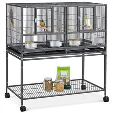 Divided Breeder Breeding Parakeet Bird Cage for Canary Cockatiel Parrot Lovebird