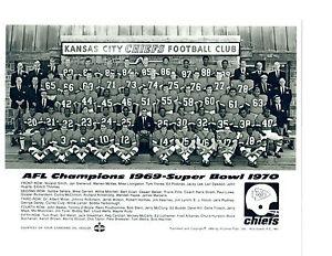 1970 KANSAS CITY CHIEFS  8X10 TEAM PHOTO 1969 AFL CHAMPIONS  FOOTBALL NFL