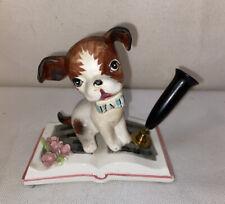 Vtg 50-60's Japan Beagle Hound dog Puppy PEN HOLDER Desk Organizer figurine