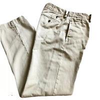Polo By Ralph Lauren Boys Size 16 Chino Pants Khaki Tan Cotton Uniform Preppy