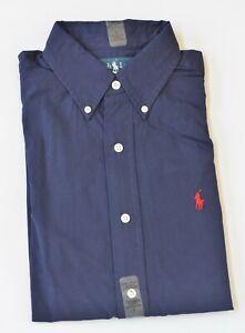 New Polo Ralph Lauren Men's Classic Fit Long-Sleeve Poplin Cotton Dress Shirt