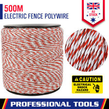 500m Polywire Roll Electric Fence Energiser Stainless Poly Rope Insulator Tool