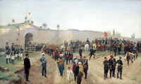 """oil painting on canvas""""Surrender of the fortress of Nikopol, July 4,1877""""@N13861"""