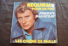 "JOHNNY HALLYDAY ""Requiem Pour Un Fou"" 7"" SINGLE VINYL (1976)"