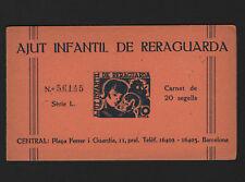 OPC 1937 Spanish Civil War Child AJUT INFANTIL DE RERAGUARDA Booklet of 20 MNH