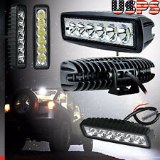 "6*18W 6"" Cree LED Light Work Bar Driving Fog Offroad SUV 4WD Car Boat Truck Lamp"