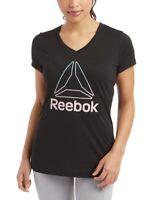 Reebok Sombra Delta Black Workout Tee Size Medium