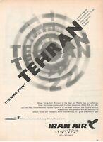 1969 Original Advertising' Iran Air Company Aerial Iranian Sheer o Khorsheed