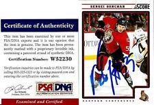 2013 Panini Score Sergie Gonchar OTTAWA SENATORS Signed Trading Card PSA/DNA COA