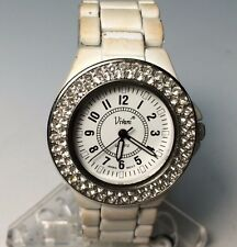 Vintage Vivani Men Women Rhinestone Analog Quartz Watch Hours  ~New Battery