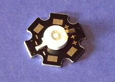 3W 365nm UV POWER  LED on HEATSINK Kühlkörper Emitter  5mm Geldschein Money