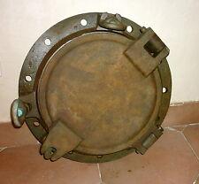 HUBLOT DE BATEAU 27kg 44,5 cm PORTHOLE RAINHILL - FIN XIXe DÉBUT XXe Heavy Brass