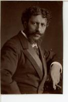 France, Carolus Duran, artiste peintre  Vintage print.  Photoglyptie  6,5x10