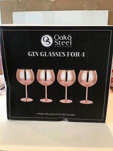 Oak And Steel Gin Glasses
