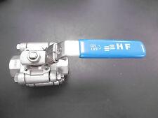 """HF Edelstahl Absperrventil Absperrhahn Kugelhahn 3/4"""" DN20 PN125  NEU"""