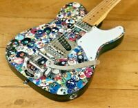 Customised Cabronita Telecaster artwork by Takashi Murukami