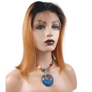 13*6 T Lace Frontal Short Bob Women Ombre Honey Blond Human Hair Wigs For Women